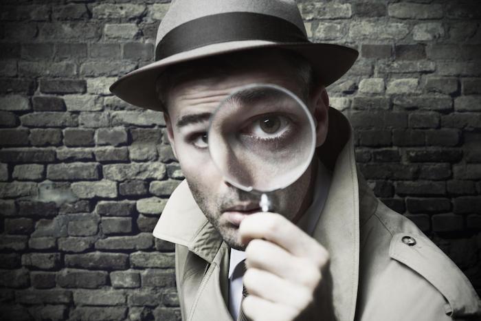 Privatdetektiv, ein mann mit hut
