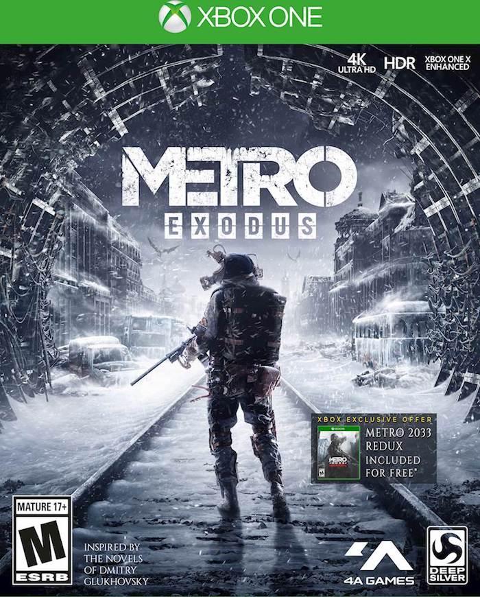 poster zu dem spiel metro exodus, ein mann mit waffe, der neue streaming dienst für spiele stadia von google