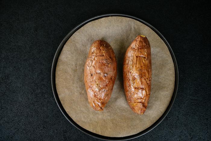 einfaches abendessen, gebackene kartoffel, süßkartoffel backen, was kann ich kochen