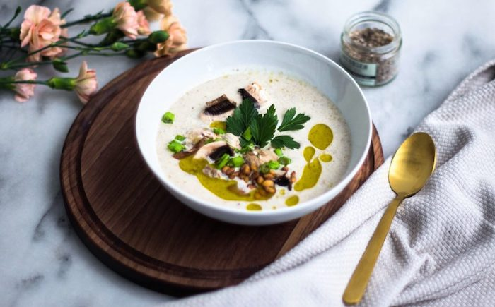 gemüsesuppe püriert, einfaches mittagessen unter 30 minuten, die bestne ideen für cremesuppe