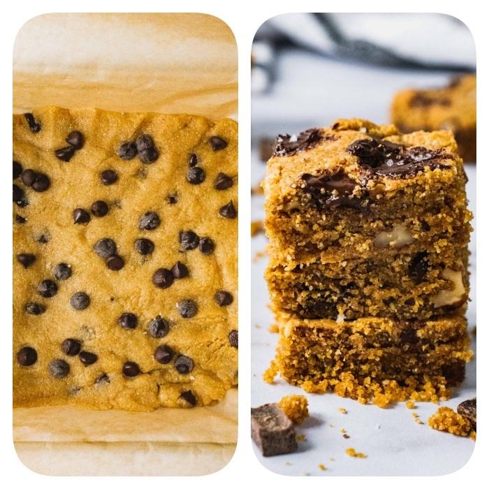 kekse backen rezepte, leckere cookies mit mini schokoaldenchips, kokos und erdsnussbutter