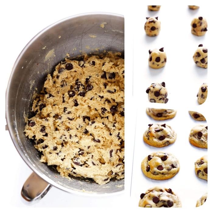 kekse rezept einfach, schnelle cookies mit erdnussbutter und schokoaldenchips, nachtisch ideen