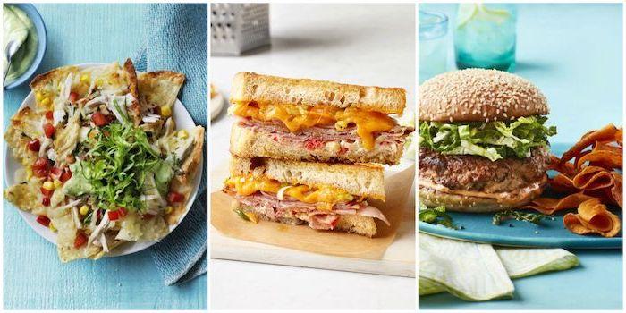 schnelle einfache gerichte, sanwiches rezepte, abendessen ideen, picknick essen