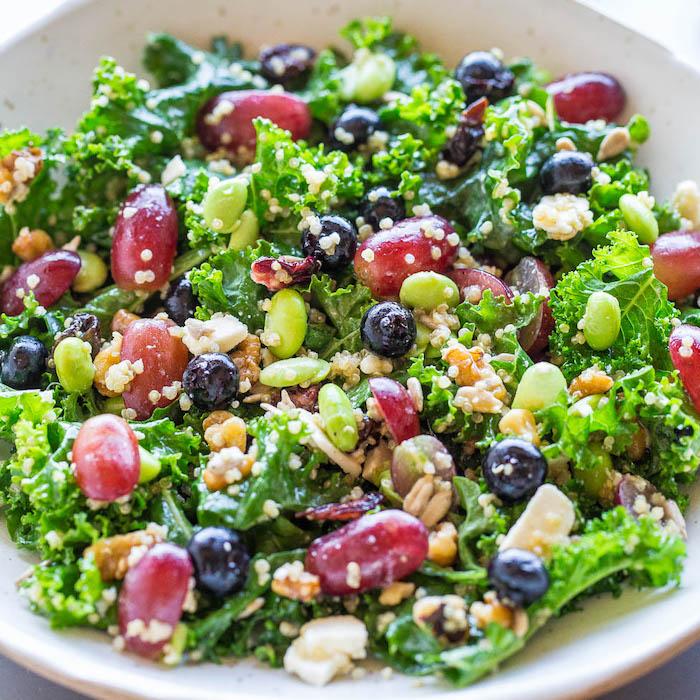 rezepte unter 30 minuten, schnelle einfache gerichte, salat zum abnehmen, gemüse, bohnen