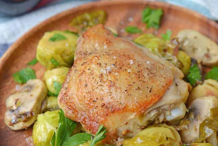 schnelle gesunde rezepte zum abnehmen, hühnerfleisch mit pilzen und kartoffeln