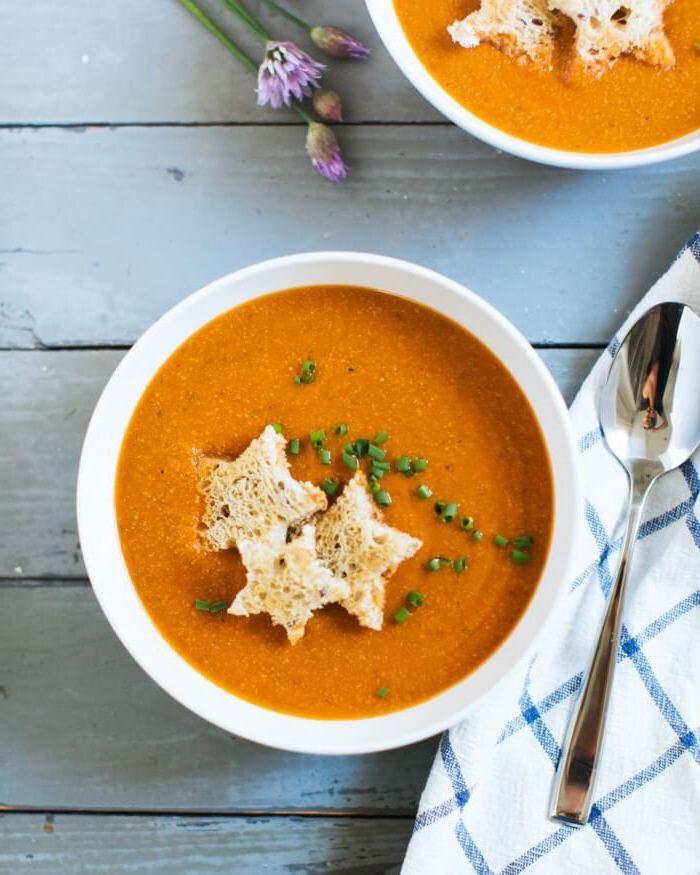 suppenrezept einfach und schnell, tomatensuppe kochen, was kann ich kochen, gesund essen
