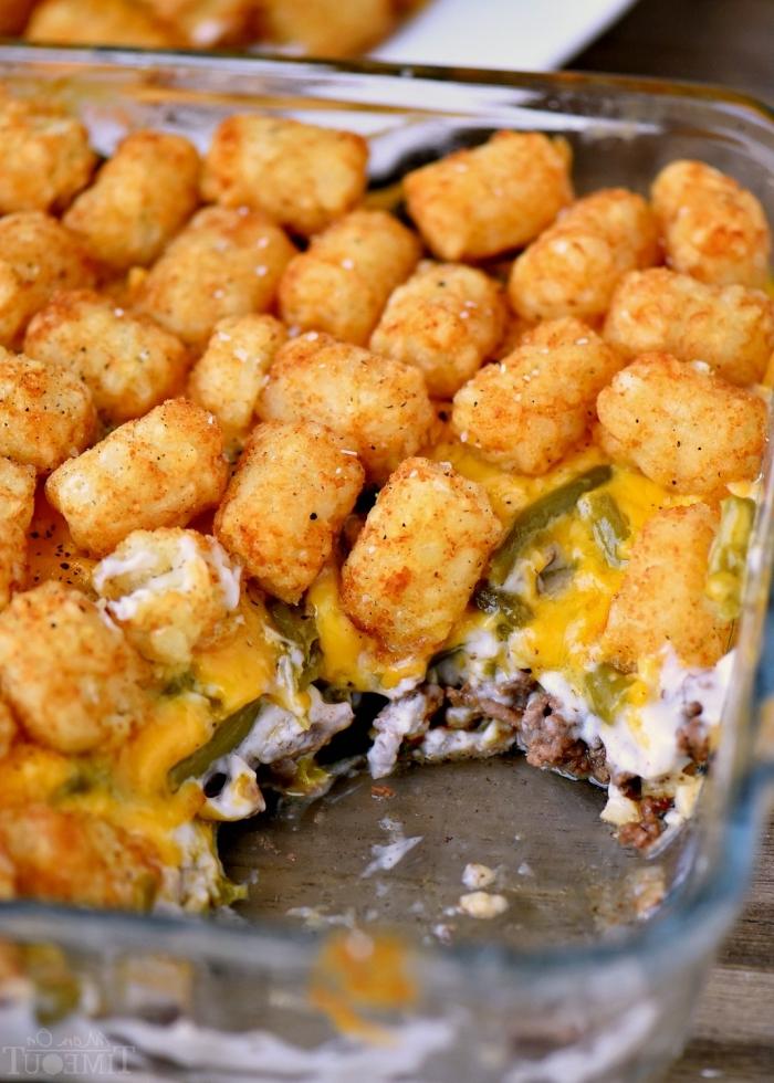 was kann ich heute kochen, kasserolle rezepte, häpphen aus käse, kroketten zubereiten