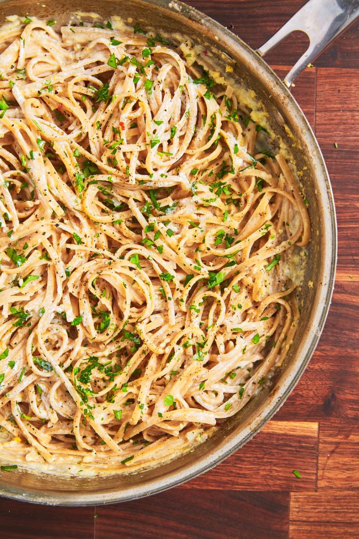 was koche ich heute, pasta mit creme soße und kräutern, nuddeln zubereiten, schnelles rezept