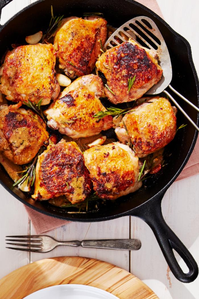 was koche ich heute schnell, hühnerfleisch mit kräutern und knoblauch, rezepte mit fleisch