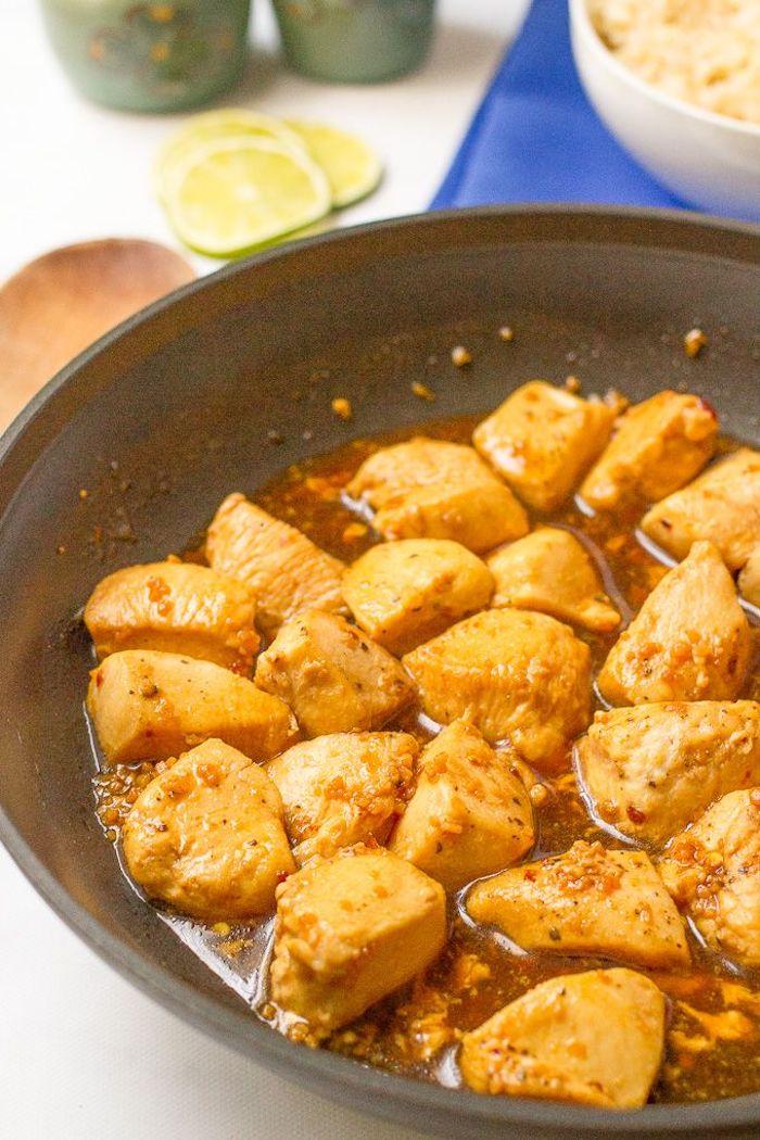 was koche ich morgen, hühnerstückchen mit honig und sojasoße, low carb essen ideen