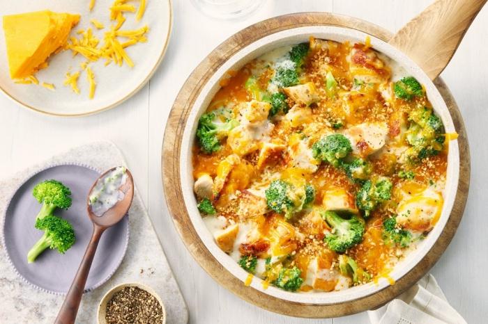 was soll ich heute kochen, gerichte mit käse, hühnerfleisch und brokkoli, mittagessen ideen