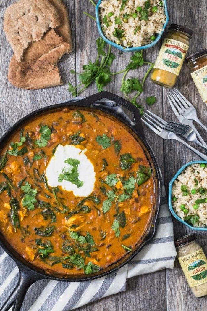 was soll ich heute kochen, curry garniert mit gehakter petersilie, abednessen ideen