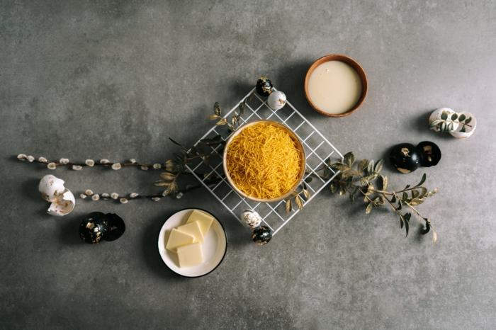 kochen mit kindern zum ostern, osternester selber machen, nötige zutaten, leckere rezepte