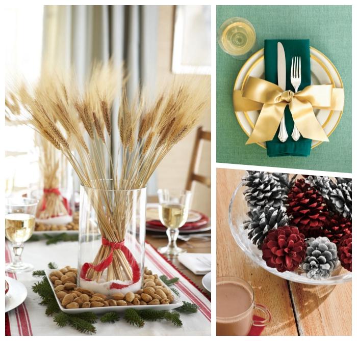 ausgefallene weihnachtsdeko selber machen, tisch festlich dekorieren, tischdeko ideen