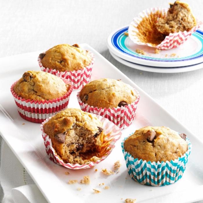 gesunde muffis mit schokoladenchips, essen für kindergeburtstag, muffin rzeepte einfach und schnell