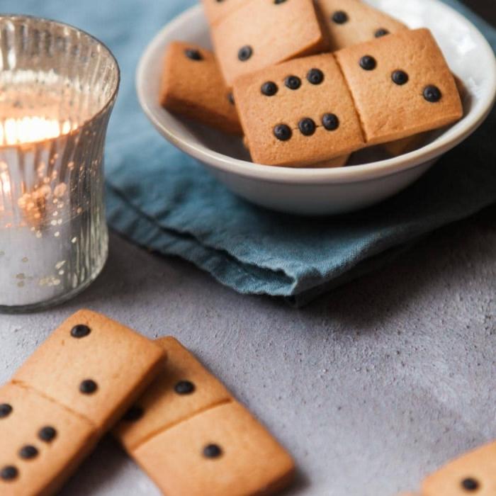 kochen für kinder, domino kekse selber machen, cookies mit schokoladenchips, kindergeburtstag