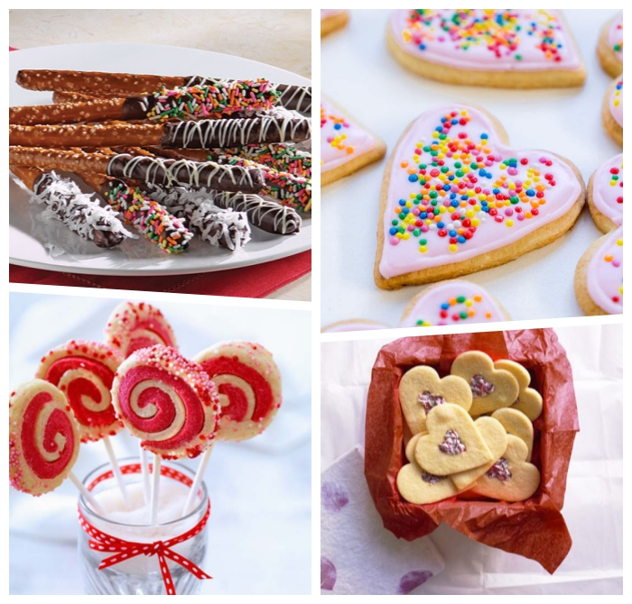 kochen für kleinkinder, kinderparty essen ideenm kekse jerzen, salzige sticks mit schokoalde