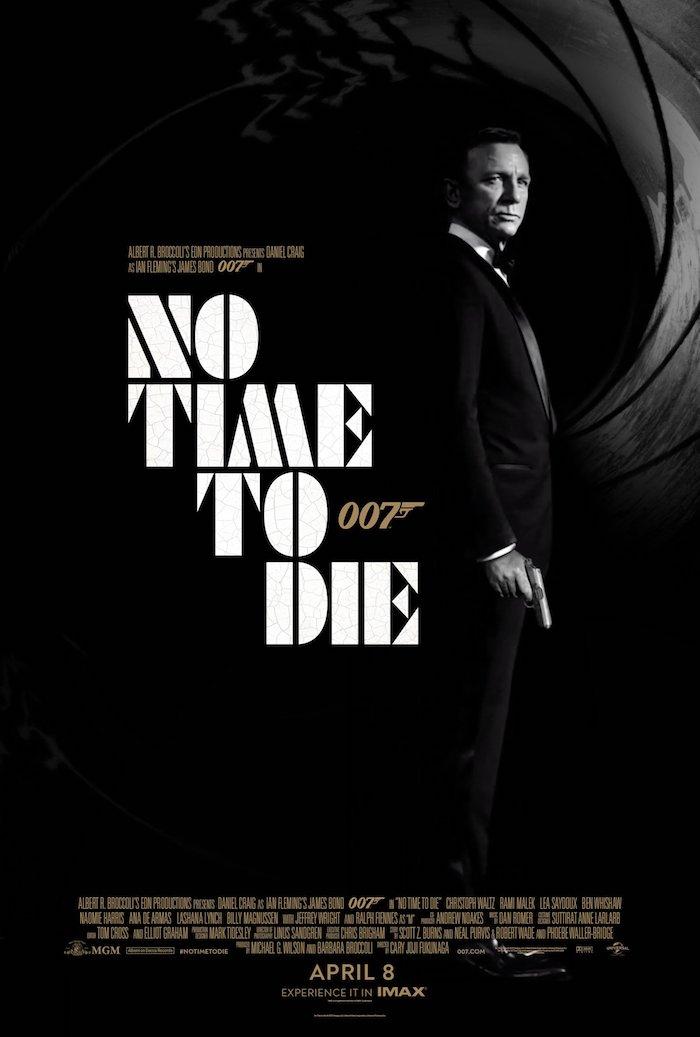 james bond to time to die, keie zeit zu sterben, ein mann mit einer pistole und mite einem schwarzen sakko, ein poster zu dem film keine zeit zu sterben, daniel craig