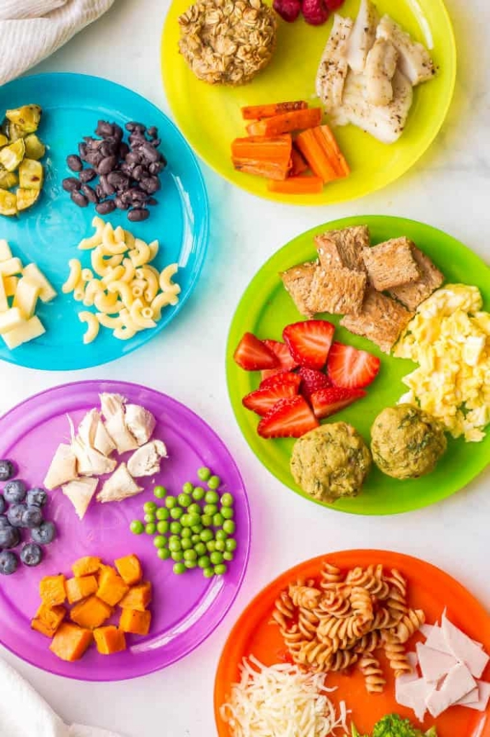 rezepte für kinder essen ideen, gesund kochen für kind, menü für kleinkinder, fleisch mi gemüse