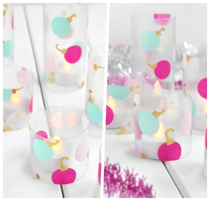 weihnachtsdeko basteln für den tisch, diy bastelideen zu weihnachten, tannenbäume aus seidenpapier