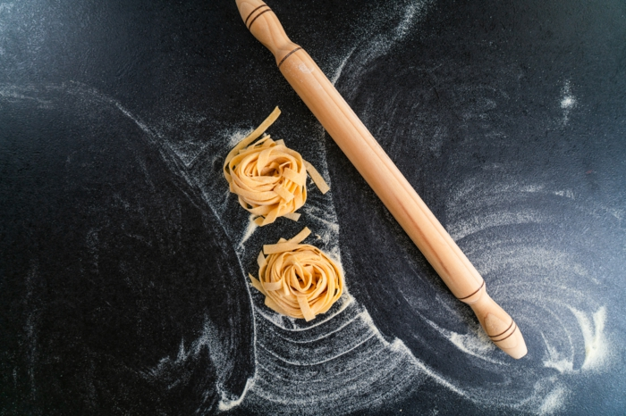 mittagessen ideen, was koche ich heute, pasta mit champignong knoblauch soße