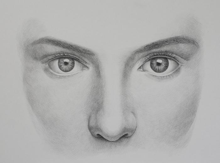 bleistift zeichnungen einfach, frauengesicht zeichnen, schritt für schritt, gesicht