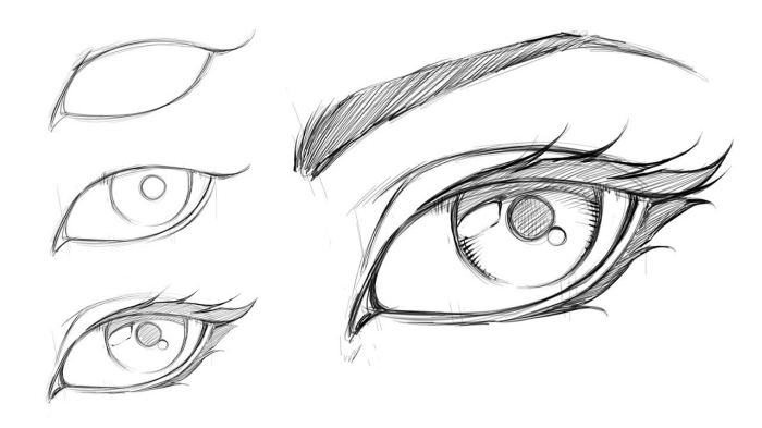 zeichnen lernen ideen, bleistift zeichnungen einfach, schritt für schritt anleitung