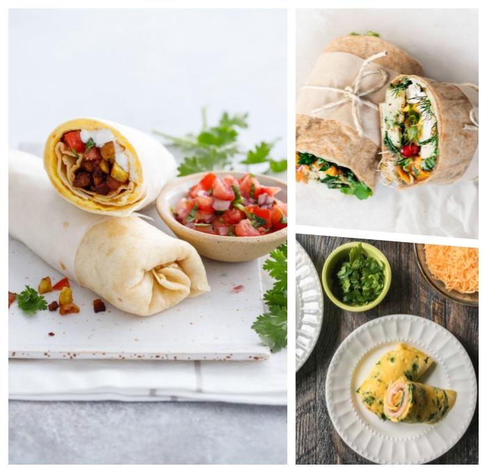 burittos selber machen, gesundes frühstück ideen, frühstücksrezepte einfach und schnell