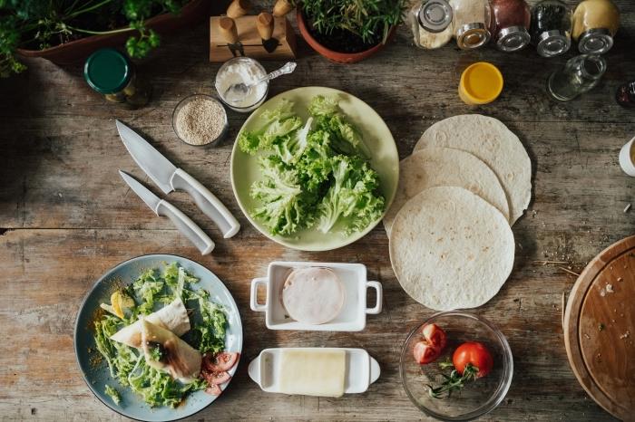 burittos selber machen, schritt für schritt, vegetarisch kochen, mittagessen ideen