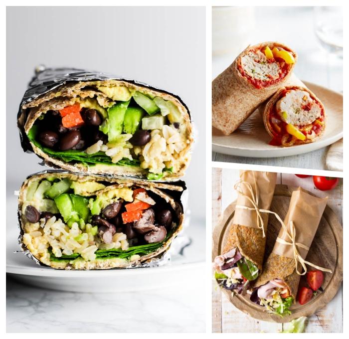 burittos selber machen, was koche ich heute, vegetarische wraps mit reis und gempse, mittagessen ideen