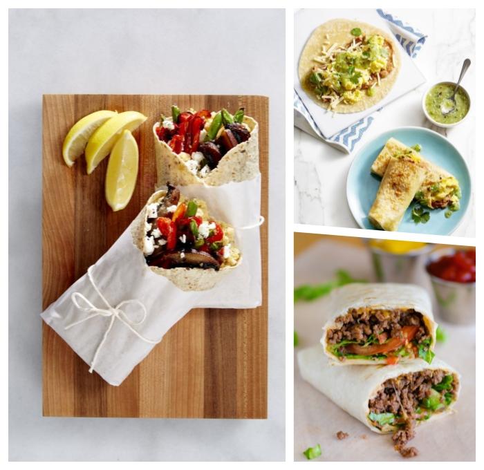 burittos selber machen, wraps rezepte ideen, picknick essen zubereitung, einfache und schnelle rezepte