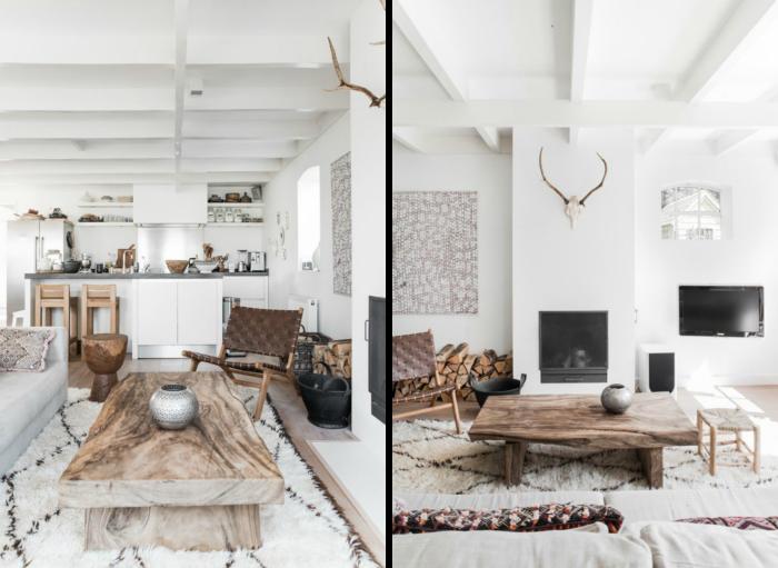 farbtrends 2020, natürliche materilaien, skandinavische deko, elemente aus holz, weiße wände