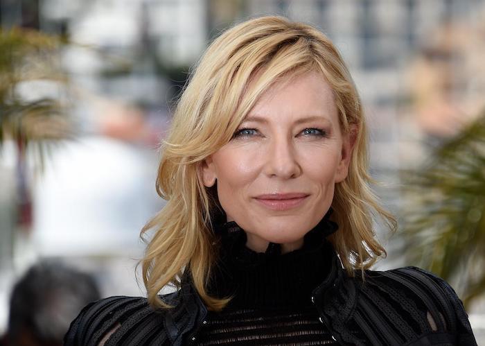 die schauspielerin cate blanchett, frau mit blondem haar und blauen augen, cate blanchett wird jurypräsidentin bei den internationalen filmfestspielen in venedig