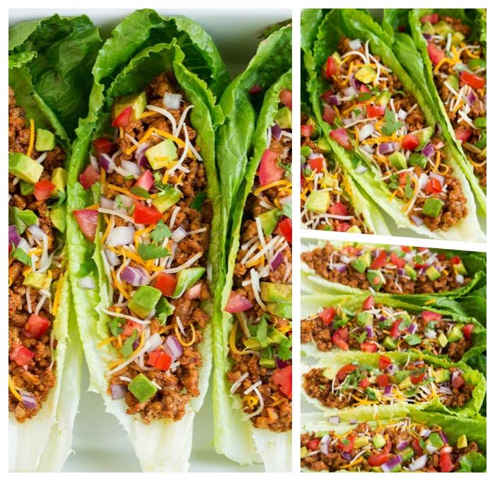 füllung für wraps mit avocado, hackfleisch, cheddar und parmesan, low carb rezept