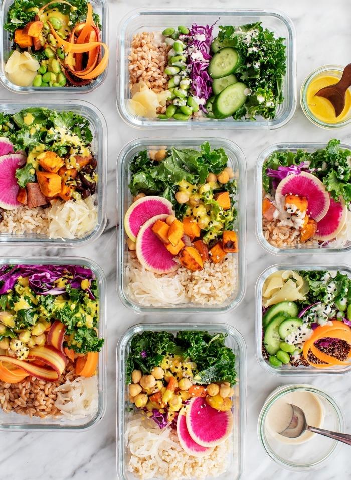 gesundes essen rezepte, mittagessen zum mitnehmen, reis mit kichererbsen und gemüse