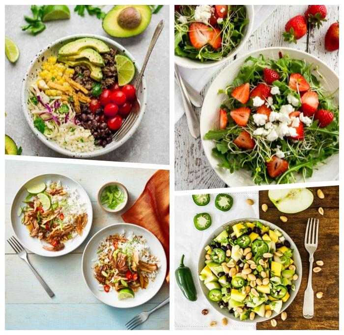 gesundes essen rezepte, was soll ich heute kochen, salat mit erdbeeren und ziegenkäse, mittagessen für jende tag