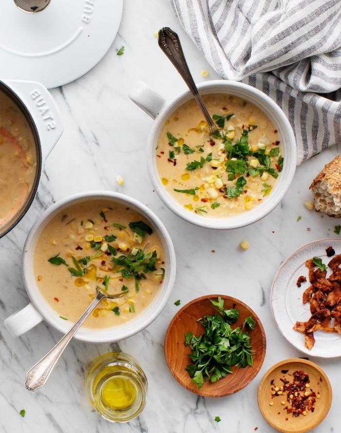 ideen mittagessen familie, schnelle gesunde suppe, cremesuppe selber machen, die besten rezepte