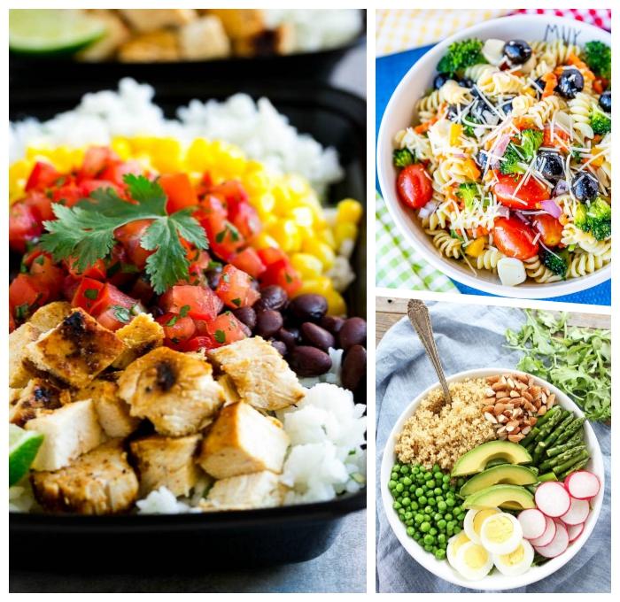 mittagessen ideen, eifnache und schnelle gerichte zum mittag essen, healthy bowls