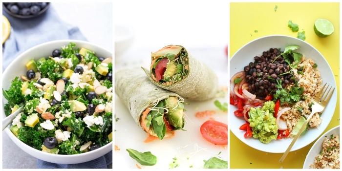 schnelle rezepte mittagessen, was soll ich heute kochen, gesunde burittos, healthy bowl