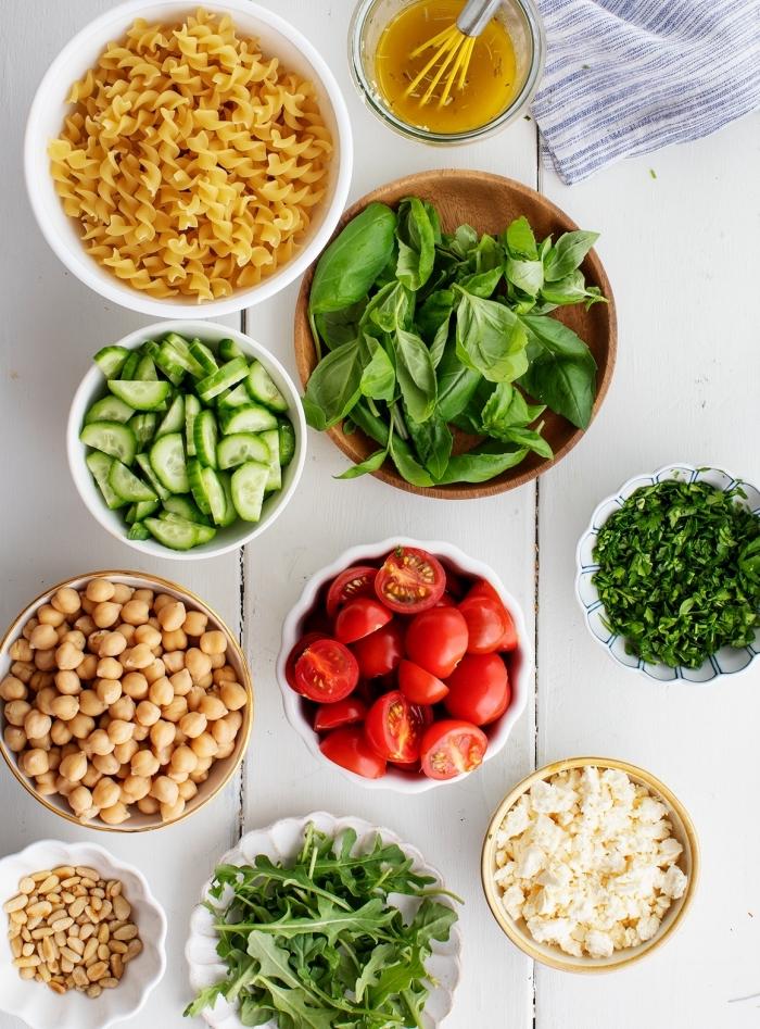 shcnelle rezepte mittagessen, pasta salat zubereitung, was soll ich heute kochen, zutaten