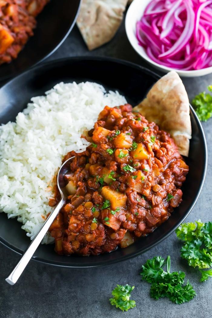 schnelle rezepte mittagessen, teis mit chili, taco bowl, was soll ich heute kochen