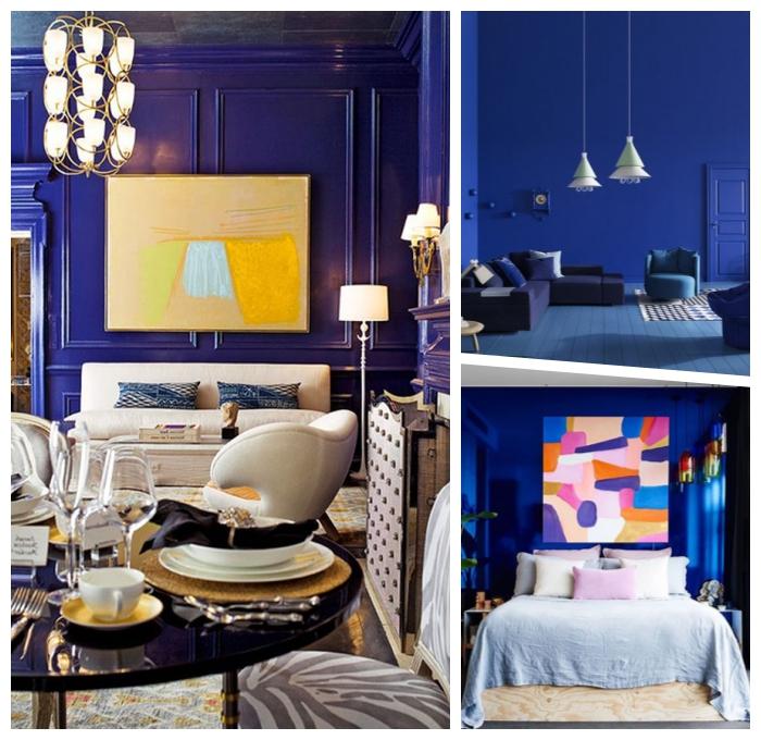 schöner wohnen wandfarbe, grelle farben, wanddeko ideen, zimmer dekorieren