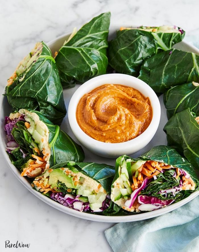 soße für wraps mit erdnussbutter, picknick essen zubereiten, vegetarisch kochen, rezepte