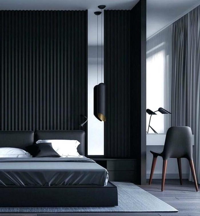 trandfarben 2019 wand, schlafzimmer gestalten, einrichtung in schwarz und weiß