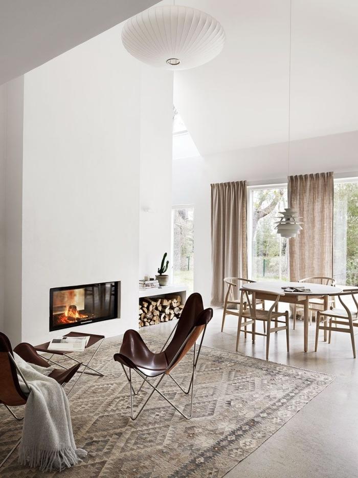 trandfarben 2019 wand, skandinavisch wohnen, weiße wände, zimmer eirnichten, natürliche materilaien