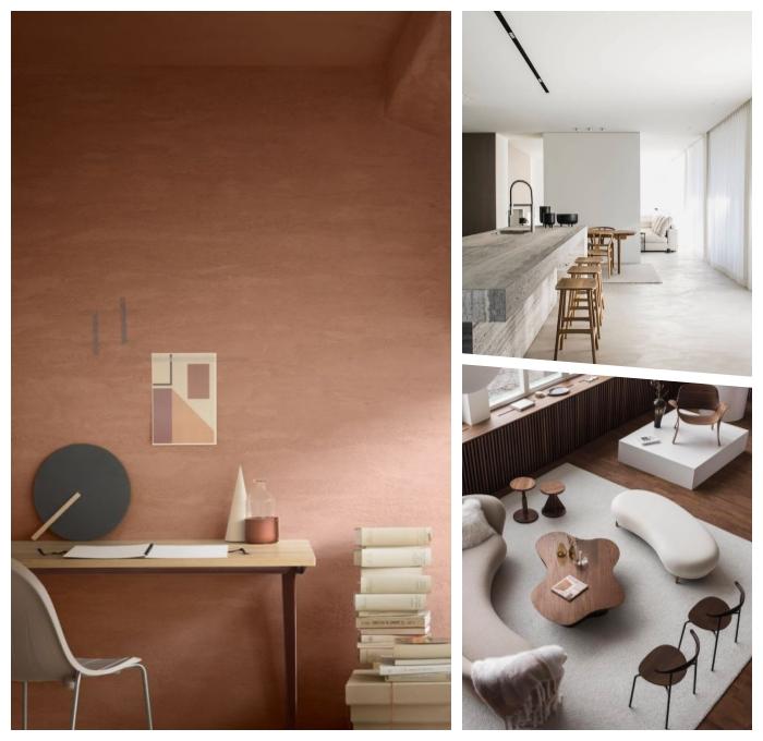 trendfarben 2020, wohnung einrichten, wände streichen, moderne farbpalette, trendfarbe cappuccino