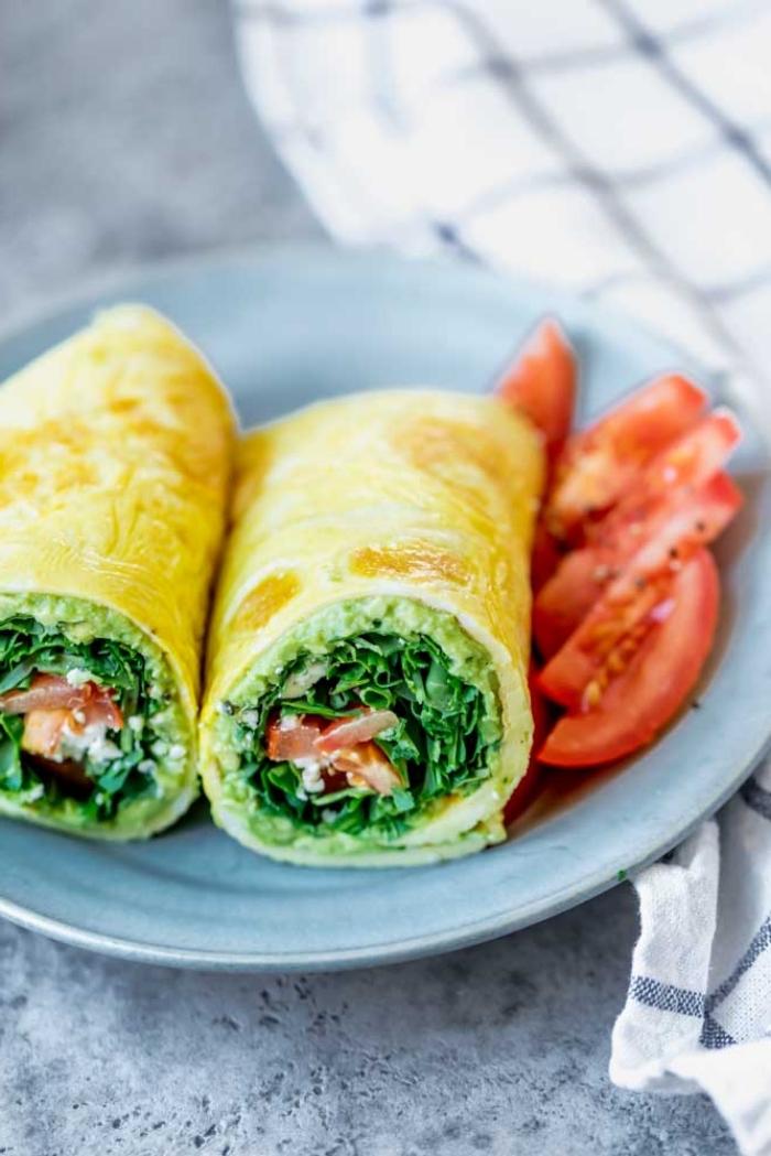 vegetarische wraps, die besten rezepte, mittagessen low carb, gesundes frühstück