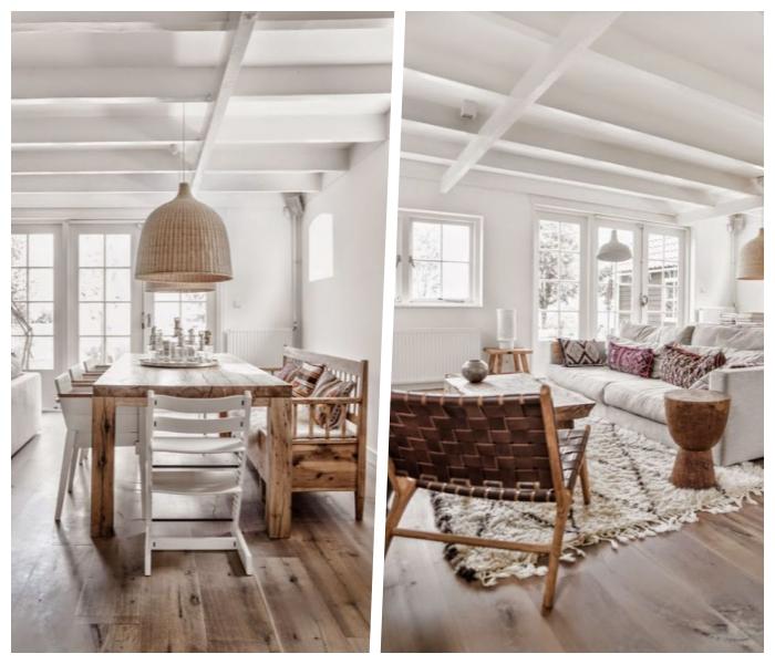 wandfarben trends, weiße wände, skandinavisch wohnen, natürliche materialien und farben