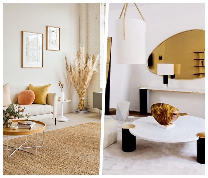 wandfarben trends wohnzimmer, pantone farbe 2019, einrichtungsideen, skandinavische deko