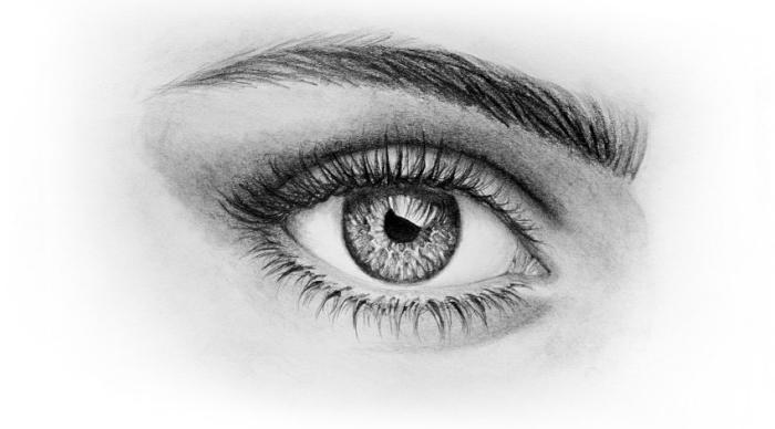 zeichnen für anfänger mit bleistift, auge richtig zeichnen, realitische zeichnung